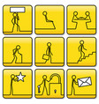 signs icons of men from lineswidth of lines can vector image vector image