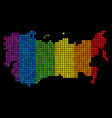 spectrum dotted ussr map vector image vector image