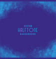 stylish blue halftone pattern texture background vector image