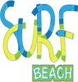Surf Beach typography t-shirt graphics vector image vector image