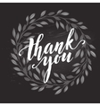 thank you card chalk drawing on blackboard vector image vector image