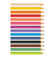 wooden colored pencils vector image
