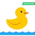 Duck rubber toy yellow color flat vector image