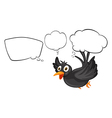 A black thinking bird vector image vector image