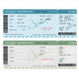 air ticket with barcode airline boarding pass vector image