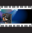 background design with girl playing piano vector image vector image
