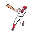 baseball player batting cartoon style vector image vector image