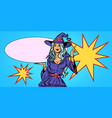 beautiful woman in halloween witch costume vector image