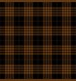 black brown tartan plaid seamless pattern vector image vector image