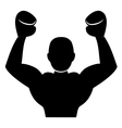 boxing player icon vector image vector image