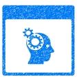 Brain Wheels Calendar Page Grainy Texture Icon vector image vector image
