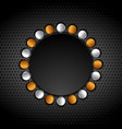 bronze and silver abstract circle shapes on vector image vector image