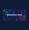 business idea colorful outline banner on dark vector image vector image