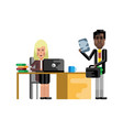 business meeting african businessman with woman vector image