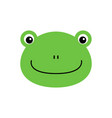 cartoon animal cute frog on white backgrounds vector image