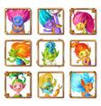 cartoon troll characters avatars set vector image vector image