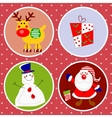 Christmas characters vector image