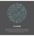 cleaning template vector image vector image