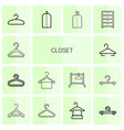closet icons vector image vector image