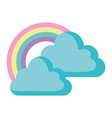 clouds and rainbow design vector image
