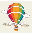 colorful air balloon vector image vector image