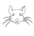 continuous one line drawing rat chinese zodiac vector image vector image