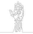 continuous one line drawn robot arm vector image vector image