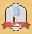 cooking utensils design vector image vector image