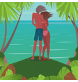 Couple admiring the view of the ocean vector image vector image