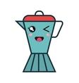cute kettle kawaii style vector image vector image