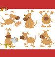 dog cartoon characters set vector image vector image