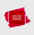 draw paint red frame art poster vector image vector image