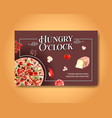 facebook template with cooking design vector image vector image