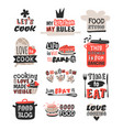 food logotype restaurant vintage design cooking vector image vector image
