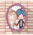 girl and boy romantic marriage pictures vector image vector image