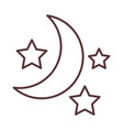 half moon and stars decoration ornament line style vector image vector image