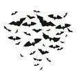 halloween flying bats spooky bats flock creepy vector image
