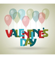 Happy Valentines day card design 14 february vector image vector image