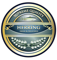 Herring Gold Label vector image vector image