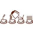 Instant Coffee Prep Icon vector image vector image