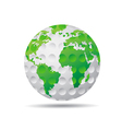 isolated golf earth vector image vector image