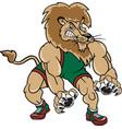 lion sports logo mascot wrestling vector image vector image