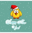 Little Chicken And Snowflakes vector image vector image