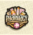 logo for pharmacy vector image vector image
