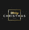 merry christmas golden phrase in frame with vector image