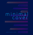 minimal covers design with neon gradient shapes vector image vector image