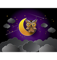 owl with moon