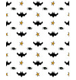 pattern of halloween element patches vector image