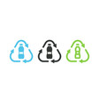 pet plastic bottle recycle symbol vector image vector image