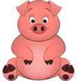 pig on a white background vector image vector image